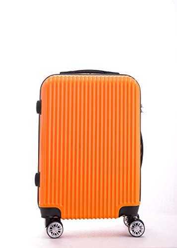 OM Home Valise bagage cabine en ABS Légère, résistante et rapide avec 4 roulettes 55 cm 40 l Orange orange 20 55CM
