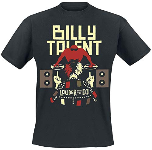 Billy Talent Louder Than The DJ Männer T-Shirt schwarz S 100% Baumwolle Band-Merch, Bands