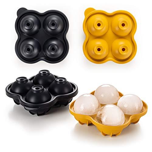 Blumtal Eiswürfelform Silikon Kugeln - Eiskugelform BPA frei, Leichtes Herauslösen der Eiswürfel, Silikon Form, Eiswürfelform Kugel