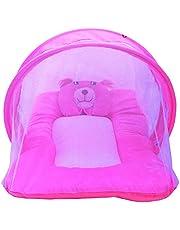 Nagar International New Born Baby Cotton Mosquito Net and Mattress (Pink)