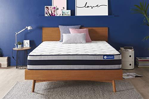 Materasso Actiflex ergo 130x190cm, Spessore : 24 cm, Molle insacchettate e memory foam, Rigido, 5 zone di comfort