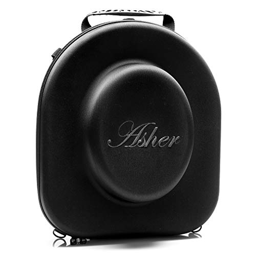Asher New York Travel Hat Box | Hard Hat Holder for Fedora, Straw, Panama, Boater & Baseball Hats | Sleek Hat Storage Case Easily Straps to Suitcase or Carried on Shoulders