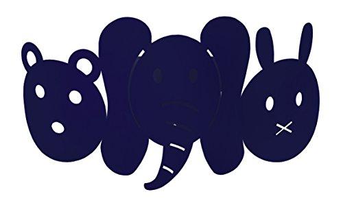 Tosel 31956 Applique 1 Lumière, Acier, E27, 40 W, Bleu, 25 x 12 cm