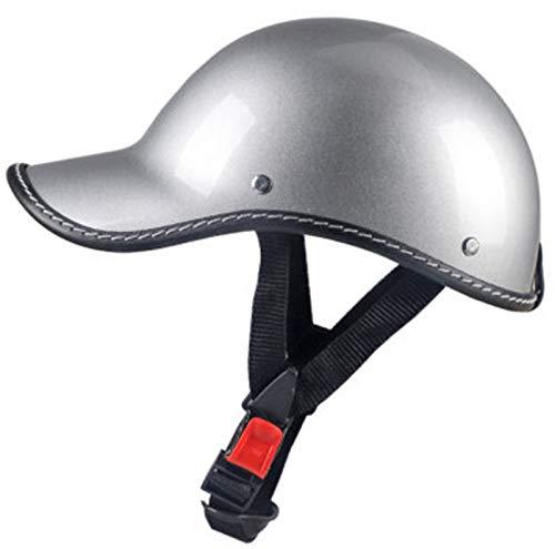 Casco De Para Motocicleta,Estilo Retro,Ajustable,Protección Para Bicicleta,Crucero,Chopper,Ciclomotor,Scooter,ECE Aprobado 4,54-58cm