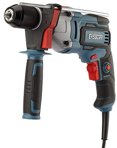 UKB Erbauer 650W 240V Corded Fan Cooled Soft Grip Brushed Forward & Reverse Rotation Fixed Speed Lock on Trigger Switch Hammer Drill EHD650