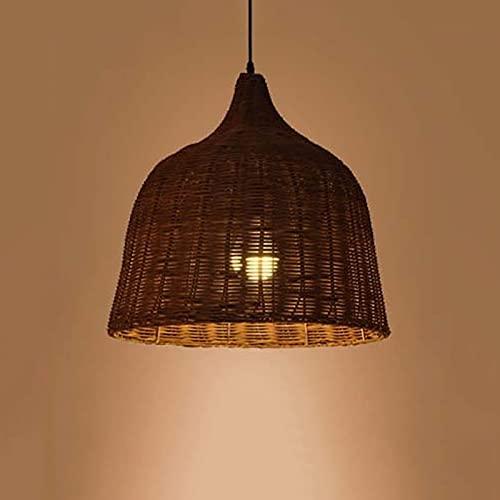Candelabro de interior Pantalla de madera antigua Candelabro de mimbre de bambú...