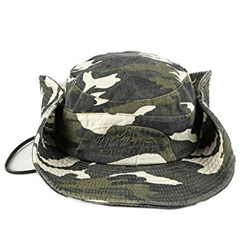 Jamicy™ Unisex Camouflage Military Cap Fisherman's Hat Flat Cap Top Cadet Caps Einstellbare Corps Vintage Top Hüte Outdoor Wandern Camping Angeln Reisen Hut, Braun - coffee - Größe: Einheitsgröße