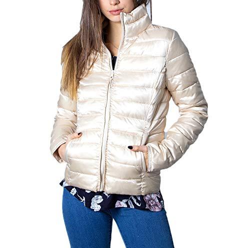 Kurze Daunenjacke Damen ONLY new tahoe shimmer jacket cc otw 15191846 l beige