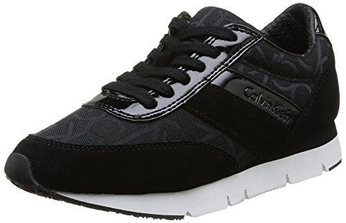 Calvin Klein Jeans Tea, Zapatillas para Mujer, Negro-Noir (BBK), 36 EU