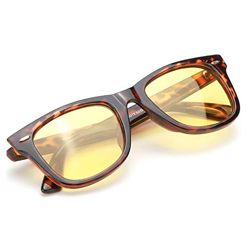 Myiaur Night Glasses Driving Anti Glare for Women, HD Polarized Yellow Lens Cloudy/Rainy/Foggy/Nighttime