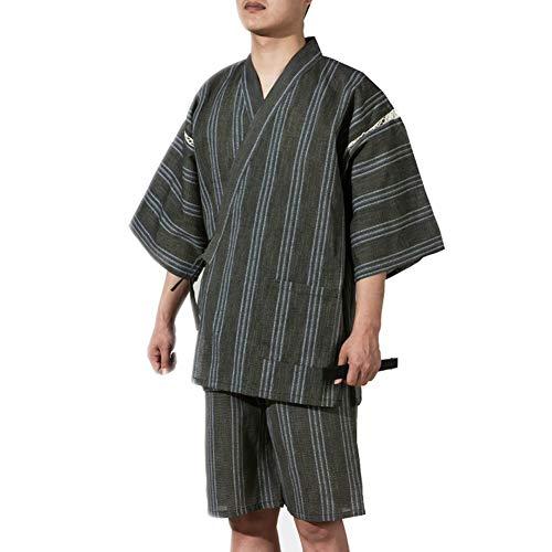Fancy Pumpkin Jinbei Men Style Japonais Robe De Robe Kimono Pyjamas Costume Taille XL-A02