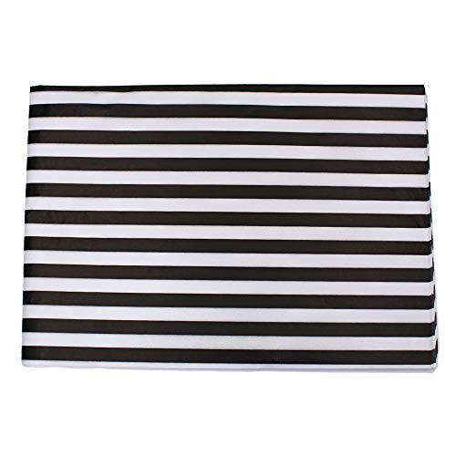Md trade Stripes Tissue Paper Stripes Wrapping Paper, Black and White, 28 Inch by 20 Inch, 30 Sheets