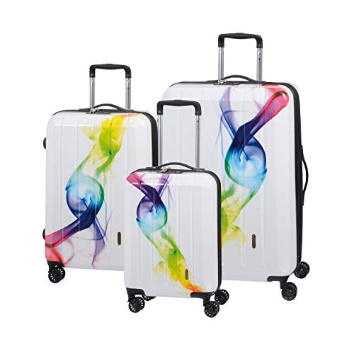 Check.IN 3-TLG. Trolleyset 55/67/75 cm London Wave mit 4 Rollen ABS 211 Liter 75 x 52 x 31 cm (H/B/T) Unisex Koffersets (LondonW-Set)