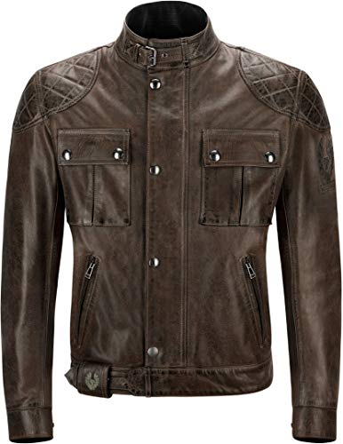 Belstaff Brooklands Giubbotto moto in pelle Marrone/Nero