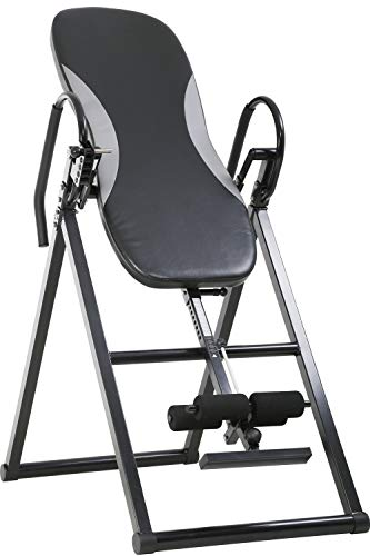 Affordable Inversion Table with 5 Fixed Angle Adjustment Holes Foldable Inversion Therapy Table for ...