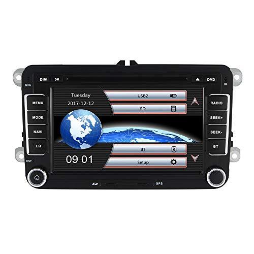 XXRUG 7 Zoll 2 Din Autoradio für VW Golf Skoda Wince System DVD-Spieler GPS-Navigation FM AM Radio Bluetooth-USB-SD-Kamera SWC Video Karte Satellite Navigator Geräte