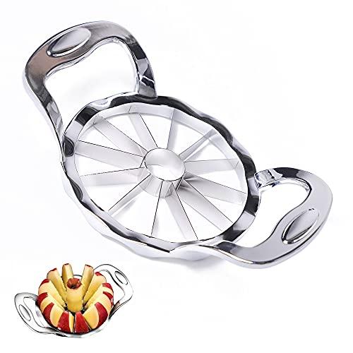 DflowerK - Cortador de manzanas (acero inoxidable, tamaño grande, ultrafilado, 12 cuchillas, mejorado)