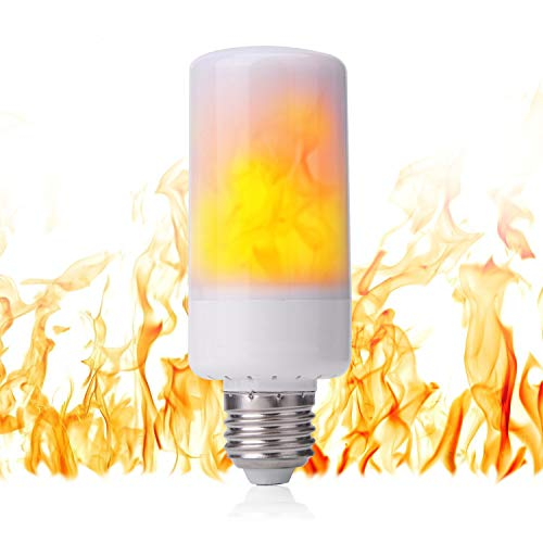 LED Flame Light Bulb - Flicker Flame Light Bulb Simulated Burning Fire Effect Lights with Flickering...