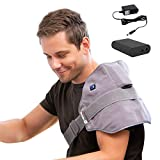 [Portable Battery] 19' x 11' Venture Heat Infrared Heating Pad for Cramps Pain Relief - Electric Heated Wrap for Back, Shoulder, Sprains, Joint Injury, 100-240v Travel Hot Compress