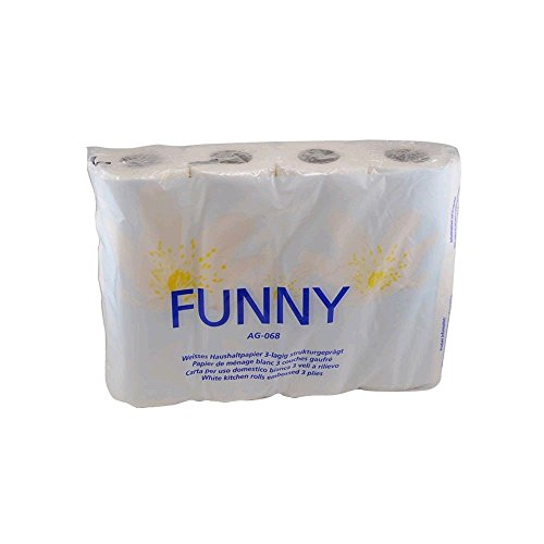 Preisvergleich Produktbild Funny Küchenrolle 3-lagig 52 Blatt 4 Rollen