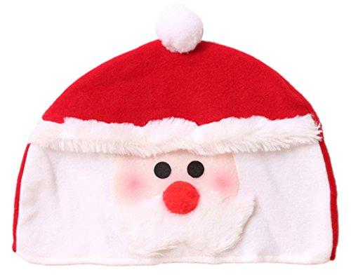 EOZY Chapeau Bonnet De Noël Homme Déguisement Père Noël Mère Noël Femme En Velours Père Noël