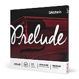 D'Addario Bowed Jeu de cordes pour violoncelle D'Addario Prelude, manche 3/4, tension Medium