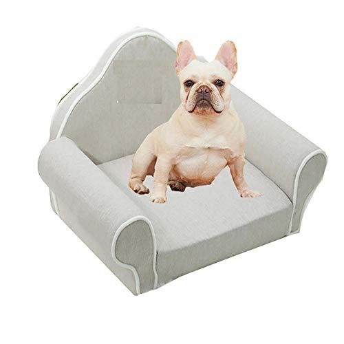 ZHANGYANG Plegable Sofá para Perros Dormir sofá para Gatos Cama para Perros Sofá para Mascotas Sofá para Perros Pequeños y Medianos Asiento Acolchado Cómodo 60x 65 x 35 cm