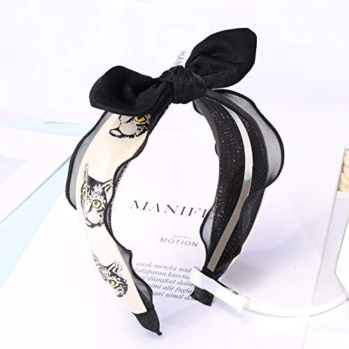 cintas para el pelo con estampado de gato de dibujos animados para...