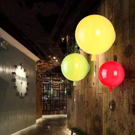 YU-K Moderne wandlamp ballon wandlamp is perfect voor bar, restaurant en coffee winkel woonkamer slaapkamer hal, 25 cm, oranje