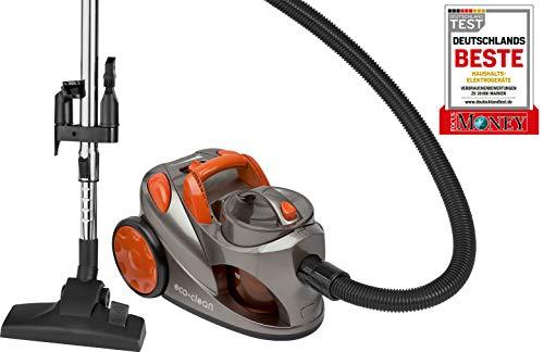 Bomann 609187 BS 9018 N CB Bodenstaubsauger, 2X HEPA-Filter, 700 Watt, 3-Fach Zubehör: kombinierte Bürsten-/Fugendüse, Polsterdüse, Orange/Anthrazit