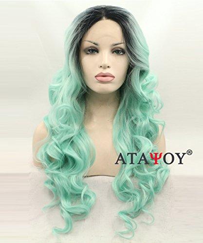 pelucas lace front verde en línea