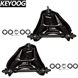 KEYOOG 2Pcs Front Upper Control Arm and Ball Joint Assembly For Chevrolet Blazer S10,GMC S15 Jimmy Sonoma,Isuzu Hombre (RWD Models Only) K620249 K620250 Passenger & Driver Side Suspension
