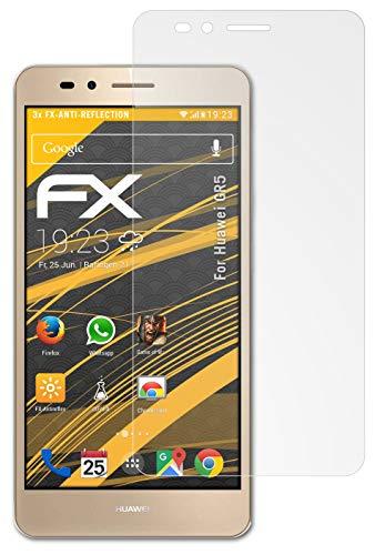 atFolix Panzerfolie kompatibel mit Huawei GR5 Schutzfolie, entspiegelnde & stoßdämpfende FX Folie (3X)