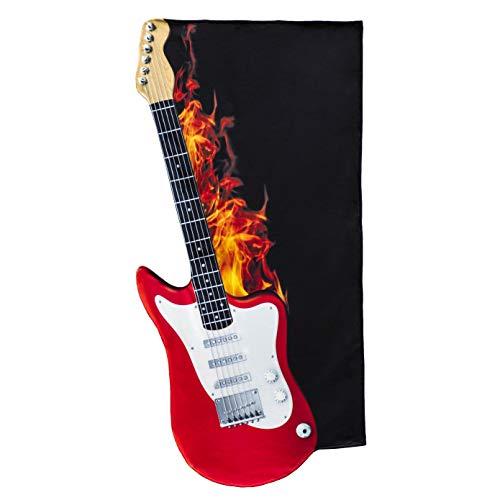 Froster Toalla Guitarra Eléctrica, Toalla de Baño Playa, Regalo para Guitarrista Amante de la Musica, Manta de Playa