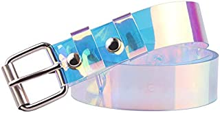 Belt Fashion Transparent Clear Laser Rainbow Buckle Waist Bands Invisible Lady Long 90/100/110/120 Cm Punk Belt