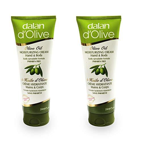 Pack de 2, Dalan Aceite de Oliva Crema Hidratante para Manos y Cuerpo 250ml