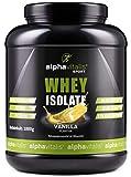 Whey Protein Isolate Pulver Vanille - H²O-optimiert - 86,9% Protein! - Zuckerfrei - Fettfrei - 1000g WPI ohne Aspartam oder Cyclamat EINWEG