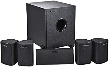 Monoprice 5.1 Channel Home Theater Satellite Speakers And Subwoofer - Black