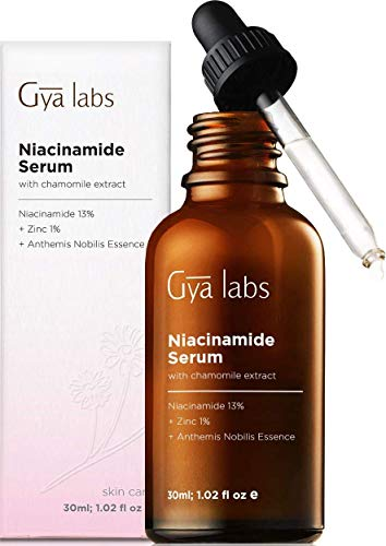Gya Labs Niacinamide Serum for Face - 13% Niacinamide with 1% Zinc and Algae Extract for Healthy and Flawless Skin - Vitamin B3 Skin Care Moisturizer for Oily Skin and Dry Skin - 30 ml
