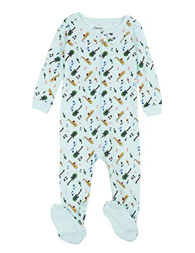 Leveret Kids Pajamas Baby Boys Girls Footed Pajamas Sleeper 100% Cotton (Instruments, Size 12-18 Months)