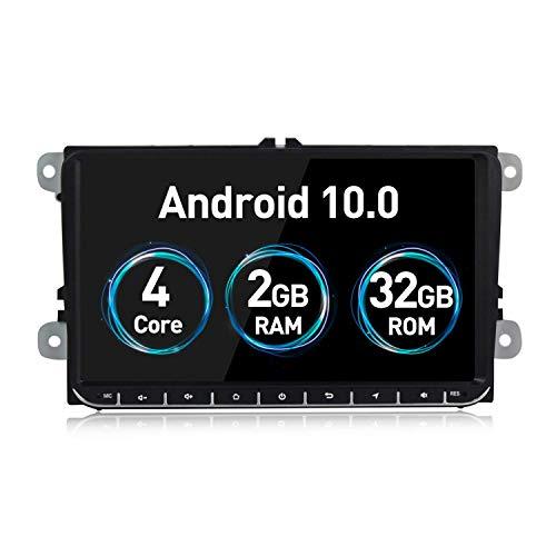 JIBO para VW Seat Skoda Android 10.0 Auto Estéreo Multimedia Jugador GPS Navegación Cabeza Unidad 9' Tocar Pantalla Nav Sat Teléfono Control SWC Bluetooth Auto Radio Video Receptor