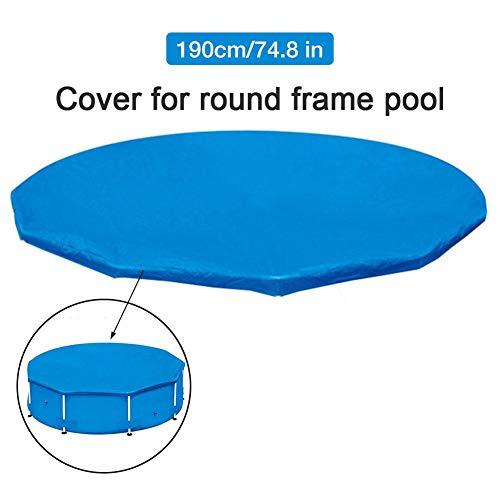 Bouder Schwimmbadabdeckung, Bodenpoolabdeckung, staubdichtes, regensicheres, verdicktes, rundes Schwimmbadabdeckungstuch (Durchmesser 190 cm), Schwimmrahmen-Poolabdeckung
