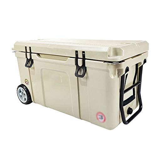 WNN-URG Outdoor Ice Bucket Travel Car Takeaway Fishing Household Portable Fresh Box Incubator Insulation Package Picnic Ice Pack Freezer Ice Bucket (Size : 25L) URG (Color : Khaki)