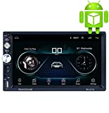 X-REAKO Andorid 8.1 Radio 2 DIN Bluetooth Car Stereo 7 pollici 1080HD Touch screen capacitivo GPS di navigazione Auto Radio Am, Mirror Link, Wi-Fi, 1 GB RAM 16 GB ROM