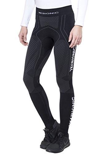 X-Bionic O100089 Pantalon Femme, Noir/Anthracite, FR : L (Taille Fabricant : L)