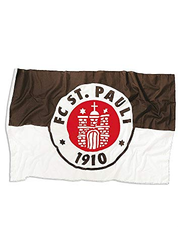 St. Pauli - Logo, Fahne klein, braun/weiß/rot, 30 x 40 cm