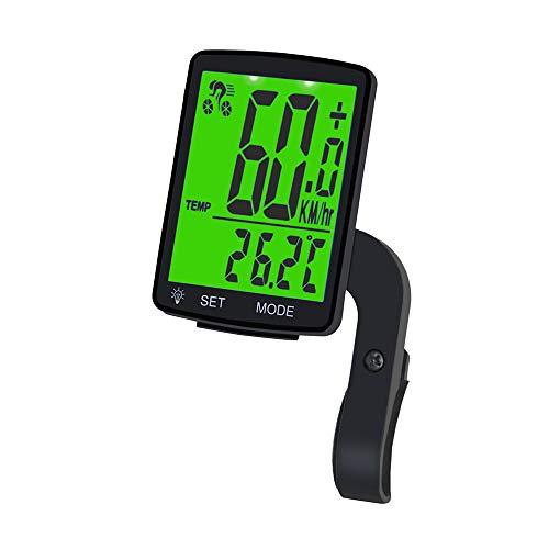 Ciclocomputador inalámbrico, 12 funciones, velocímetro inalámbrico, resistente al agua, con pantalla LCD, cuentakilómetros para ciclismo, velocidad real