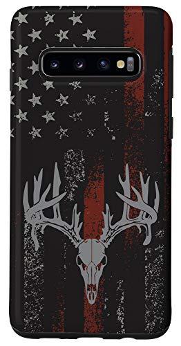 Galaxy S10 American Flag Whitetail Deer Buck Hunting USA FLAG Hunter Case