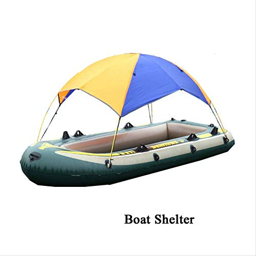 BRISEZZ Tent Boat Shelter Boat Tent Inflatable Boat Kayak Accessories Fishing Sunshade Rain Canopy Kayak Kit Sailboat Awning Top Cover For 2 Person HRTT