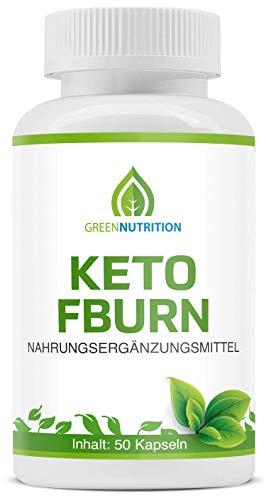 Green Keto FBurn | Stoffwechsel Tabletten | Schnell und Einfach | 50 Kapseln